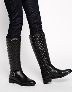 c560cb9e7ec Bronx Quilted Leather Riding Knee Boots at asos.com