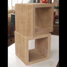 CHUMP furniture design; cardboard boxes