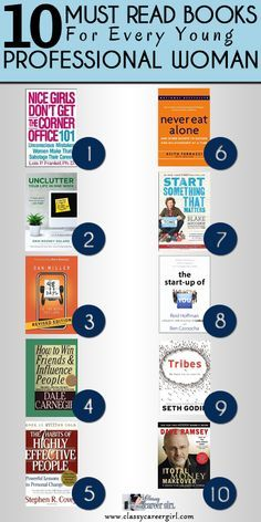 10 Must Read Books For Every Young Professional Woman | Classy Career Girl