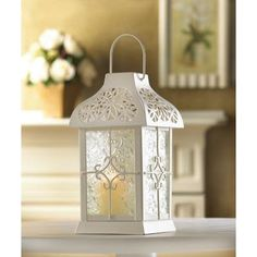 NEW White Daisy Gazebo Candle Lantern - Home Decor   $18.95 http://www.ebay.com/itm/251128061492?ssPageName=STRK:MESOX:IT&_trksid=p3984.m1561.l2649 visit and like us on facebook here https://www.facebook.com/pages/DDs-Gift-Shop/113955198649056?fref=ts