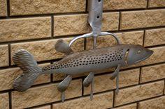 Metallic decor/Fish Metal/Stamping Metal/Fish on от KrainaHandmade Metallic Decor, Metal Fish, Sea And Ocean, Staircases, Metal Stamping, Lighthouses, Pools, Door Handles, Wall Decor