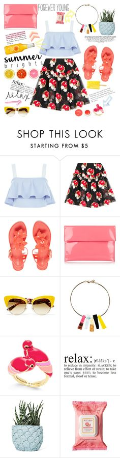"""Summer Brights"" by bklana ❤ liked on Polyvore featuring New Look, Simone Rocha, Melissa, Marni, Dolce&Gabbana, Kate Spade, Acne Studios, Chen Chen & Kai Williams, Burt's Bees and Korres"