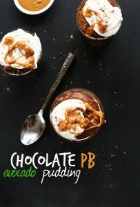 THICK, CREAMY Chocolate PB Avocado Pudding! Sweetened with dates and bananas and SO amazingly delicious #vegan