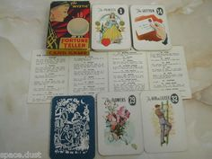 Fortune telling cards game $25 on ebay