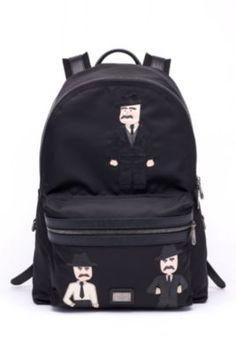 DOLCE & GABBANA Vulcano Sicilian Men Backpack. #dolcegabbana #bags #lining #nylon #backpacks #cotton #
