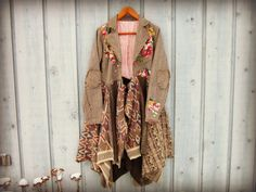 M-L Embroidered Shabby Chic Sweater Coat// by emmevielle on Etsy $179.00.  Enter PIN10 at checkout for 10% off.