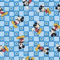 Mickey Mouse Everyday in Blue - 1 yard - Springs Creative