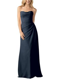 Wtoo by Watters Style 803 is a full length, sweetheart neckline bridesmaid dress with side gathering that eases out into a slim, a-line skirt. Style 803 is made of crystal chiffon. Bridesmaid Dresses Marsala, Flattering Bridesmaid Dresses, Bridesmaid Dress Styles, Strapless Dress Formal, Formal Dresses, Navy Bridesmaids, Navy Bridal Parties, Hunter Green Dresses, Mothers Dresses