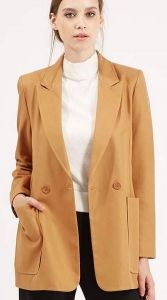 '70s Longline Blazer by Topshop |10 Vegan Coats for Brisk Fall Weather.