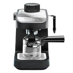 Coffee maker KRUPS Steam Espresso Machine with Glass Carafe, Black… Best Home Espresso Machine, Machine A Cafe Expresso, Espresso At Home, Espresso Machine Reviews, Coffee Maker Reviews, Best Coffee Maker, Espresso Coffee Machine, Espresso Maker, Coffee Latte