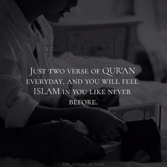 Struggling to read the Quran? How about starting with just two verses a day? Come on you can do it!
