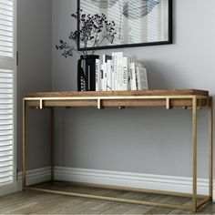 41 Entry Table Ideas to Liven up Your House in Details Watkins Console Table With Slim Legs Metal Furniture, Furniture Design, Painted Furniture, Console Table Styling, Console Tables, Entry Tables, Hall Tables, Accent Tables, Side Tables