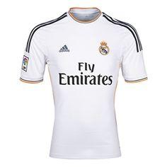 2a9e08aa1 Adidas Real Madrid Home  13- 14 Replica Soccer Jersey (White Lead Orange)
