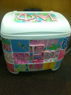 """NEED this cooler minus the letters for the inagural """"all of us are legal"""" beach trip this summer @Caleigh Thomas Reid & @Jordan Bromley Reid"""