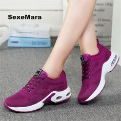 "HOT PRICES FROM ALI - Buy ""Women four seasons Sneakers women shoes Running shoes Leather net Sport Shoes Air damping Outdoor arena Athletic zapatos mujer"" for only USD. Running Sneakers, Running Shoes For Men, Air Max Sneakers, Sneakers Nike, Sneakers Women, Yoga Outfits, Sports Shoes, Shoes Sport, New Shoes"