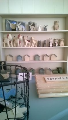 Little wooden animals and tiny dolls houses... for dolls houses!