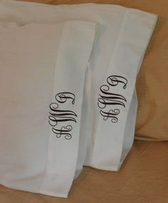such an easy thing to do to perk up a bed.  I just made 10 pillowcases for a sleepover...I'm about to monogram them for the girls.  Great takeaway for a party!!