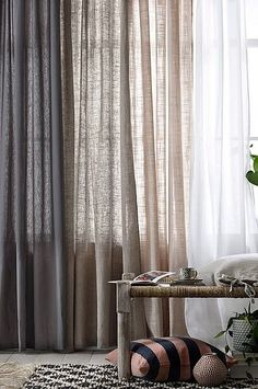 Home Remodel Porch Cortinas.Home Remodel Porch Cortinas Sheer Linen Curtains, Home Curtains, Curtains Living, Velvet Drapes, Ceiling Curtains, Tiny Living Rooms, Living Room Designs, Living Room Decor, Curtain Ideas For Living Room