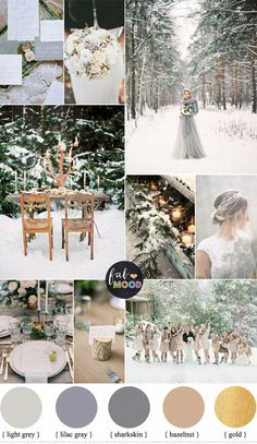 "We've had a fabulous December Wedding Colours – ""Shades of Neutral Colours"" option for you, we paired together shades of season such as whit snow + grey"