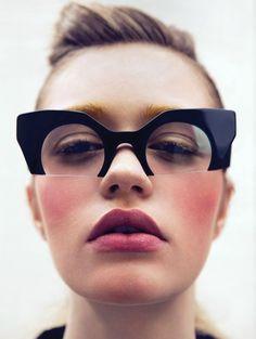 MIU MIU, RASOIR GLASSES: by clifford loh for vulture magazine.