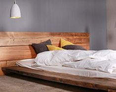 Notched hardwood timbers easily stack together with no tools to make a solid bed frame. Fully loaded with a steel center beam, planks to support mattress SprayCoated in satin lacquer . Wood Wax, Old Wood, Timber Beds, Bouncy Castle, Rustic Bedding, How To Make Bed, Recycled Wood, 2nd Floor, Industrial Chic