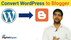 How to Convert WordPress Site to Blogger 2020 | WordPress Ko Blogger Me ... Wordpress, Digital, Youtube, Youtubers, Youtube Movies