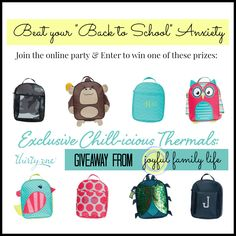 A GIVEAWAY from the Joyful Family Life blog: Win a cute Chill-icious thermal from thirty-one!