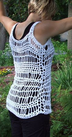 Crochet Summer Tank Top. Swimsuit Cover. Beach Cover up. by BeadGs, $20.00