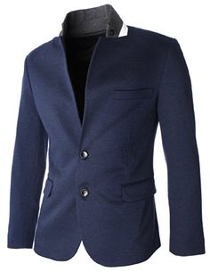 FLATSEVEN Mens Slim Fit 2 Button Stand Up Collar Casual Blazer Jacket (BJ218) Navy, Boys L FLATSEVEN http://www.amazon.com/dp/B00KFDTF94/ref=cm_sw_r_pi_dp_0Ckyub0HVWM1W