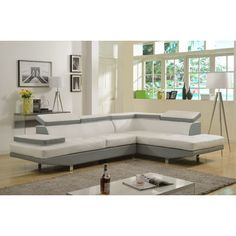 Sectional Color: Gray / White - http://sectionalsofaspot.com/sectional-color-gray-white-605488927/