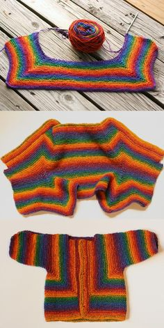 knit project - my Baby Surprise Jacket, Elizabeth Zimmermann design