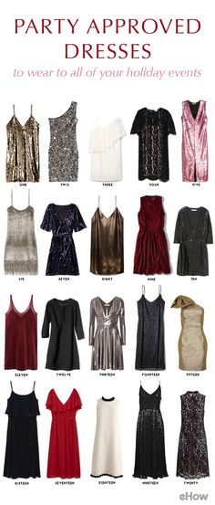 20 party-approved dresses that you can wear all holiday season long! http://www.ehow.com/how_12343747_20-partyapproved-dresses-wear-holiday-events.html?utm_source=pinterest.com&utm_medium=referral&utm_content=freestyle&utm_campaign=fanpage