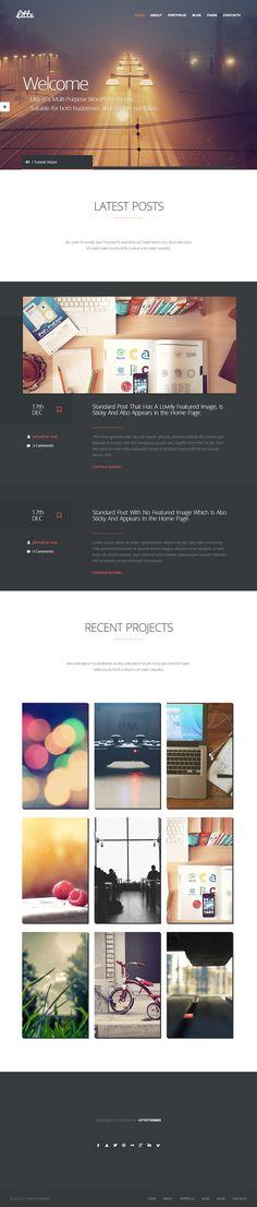 Litte – Multipurpose WordPress Theme |  #webdesign #ui #wordpressthemes