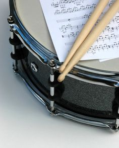 Snare Drum, Sheet Music and Sticks