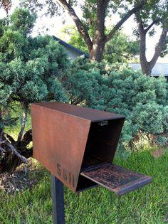 Mailbox steel modern urban industrial chic by SalehDesigns on Etsy