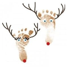 Preschool Crafts for Kids*: Christmas Reindeer Footprint Craft by heather.tart.758