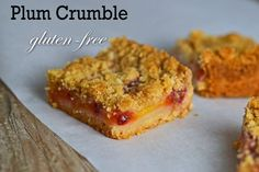 Shortbread Plum Crumble: Gluten-free in the summertime