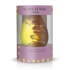 The Splat - Caramel Chocolate Easter Egg - A caramel milk chocolate Easter egg with a colourful white chocolate splat!