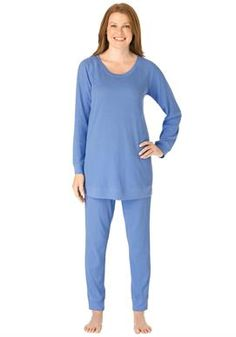 d025e0c10d Plus Size Pajama sleep set in thermal knit Plus Size Pajamas