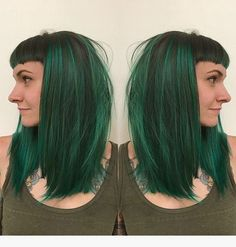 Medium long green bob wig for cosplay Nicki Minaj, Dark Teal Hair, Emerald Green Hair, Green Wig, Hair Images, Grunge Hair, Dream Hair, Ombre Hair, Her Hair