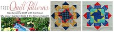 Pat Sloan's My Secret Garden Free Mystery Block of the Month
