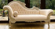 I always wanted a romantic chaise lounge like this.