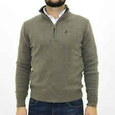 MCS Marlboro Classics Maglione uomo con zip beige jumper man 4760