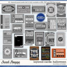 Sweet Shoppe Designs::Other Templates::Cindy's Layered Cards: Halloween by Cindy Schneider