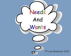 Needs and Wants Smartboard lesson for primary grades (.notebook file)