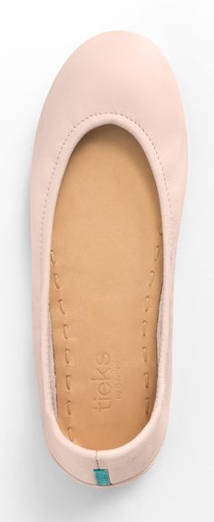 Let Ballerina Pink Tieks take you to center stage! This subtle, sweet, and feminine color makes even the simplest look distinctive.