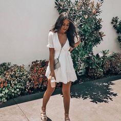 Cute white dress.