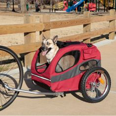 Pull Behind Bicycle Trailer For Your Dog - No Pull Pups