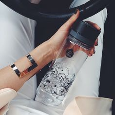 White outfit and chic black Lace, perfect combination for a casual afternoon. You can find this fashionable bottle on www.myequa.com Source: https://www.facebook.com/pages/Sandras-Fashion-Corner/334741353266655