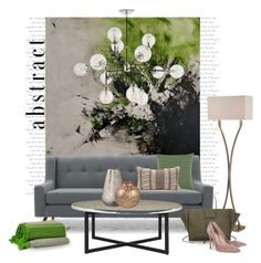"""""""Roseline Al oumani art..."""" by gloriettequartet ❤ liked on Polyvore featuring interior, interiors, interior design, home, home decor, interior decorating, Lite Source, NOVICA, Beulah-Home and Bliss Studio"""